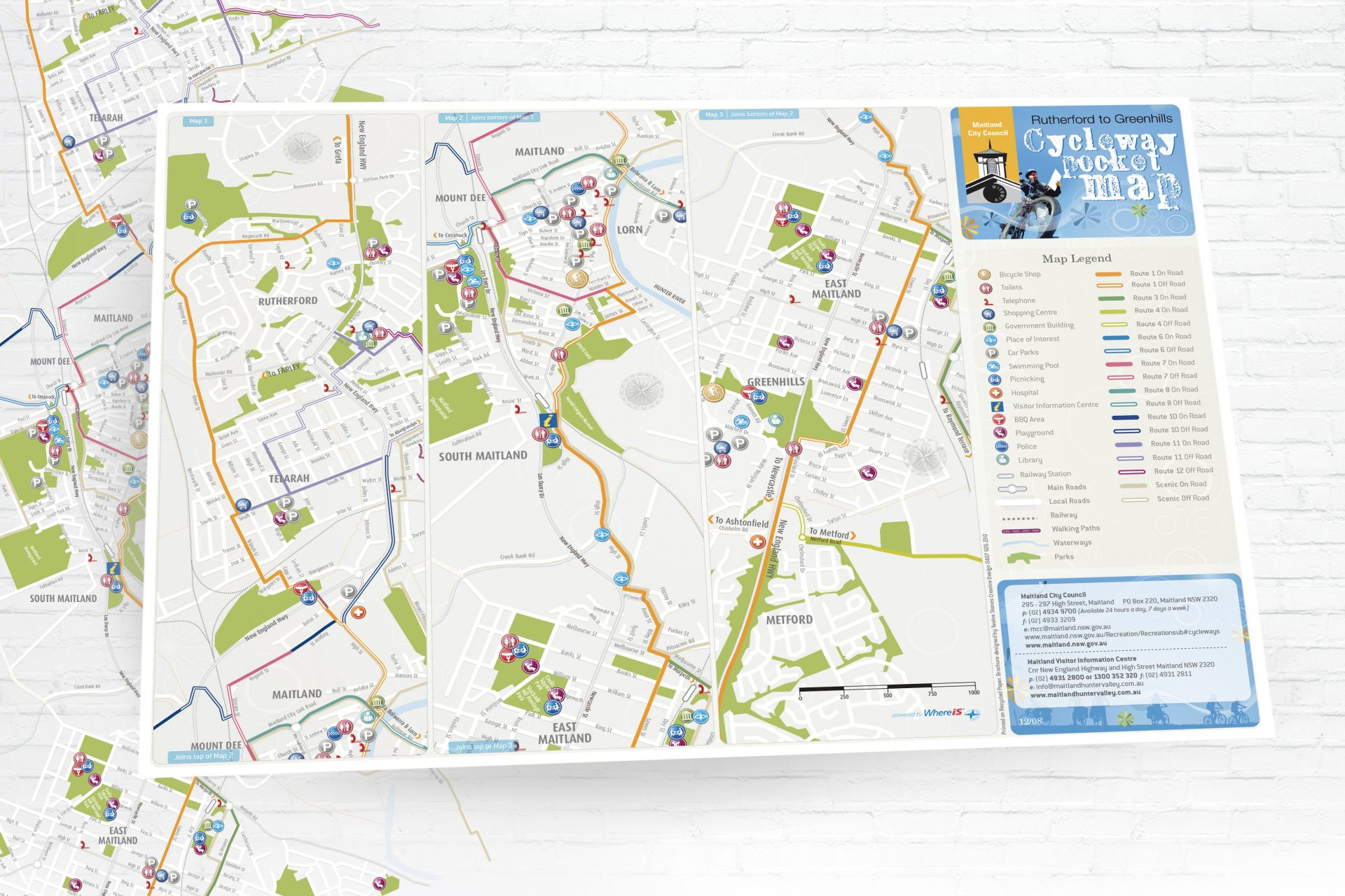 CycleWays Pocket Map for Cessnock City Council