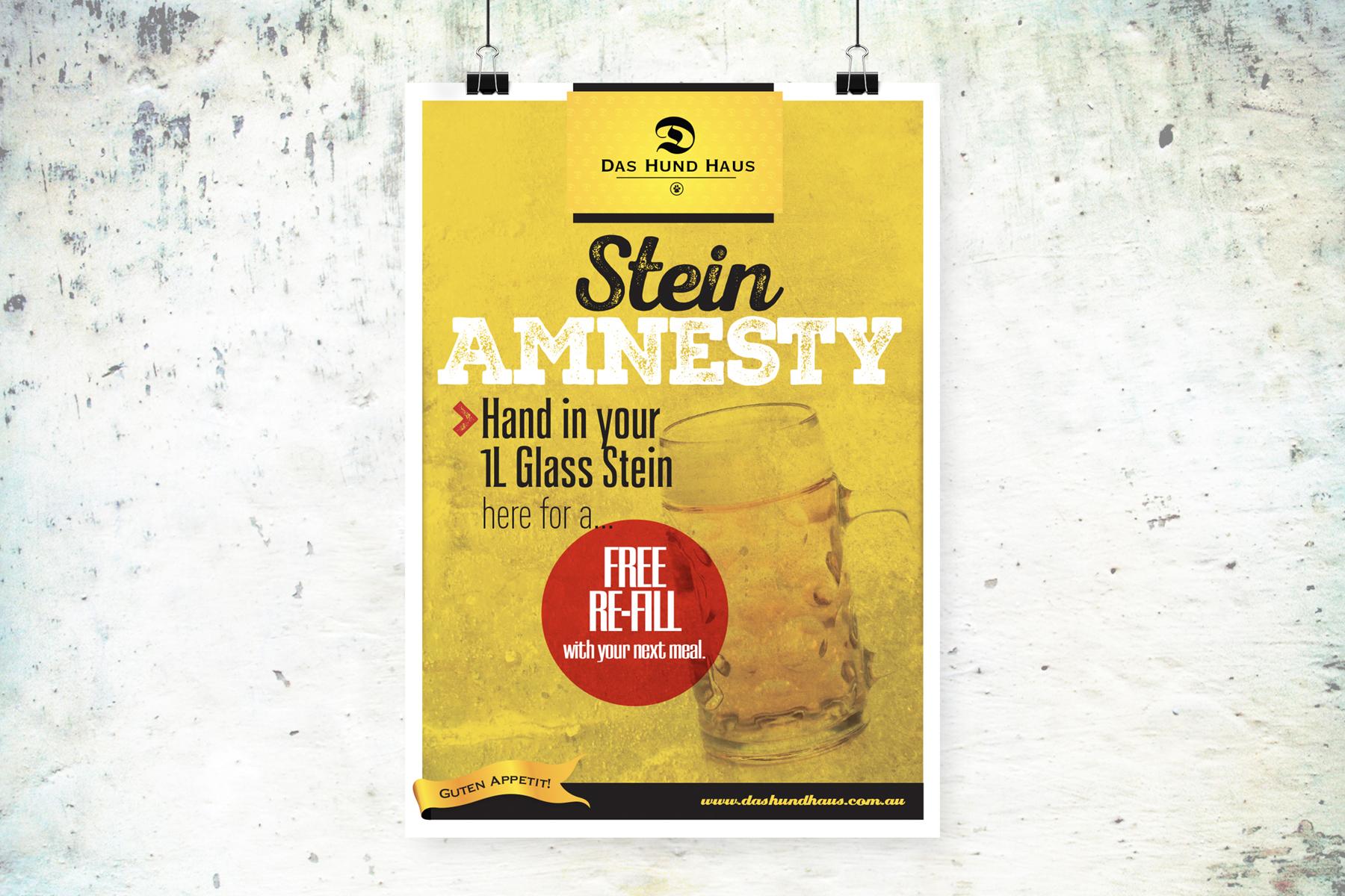 Das Hund Haus Stein Amnesty A2 Poster