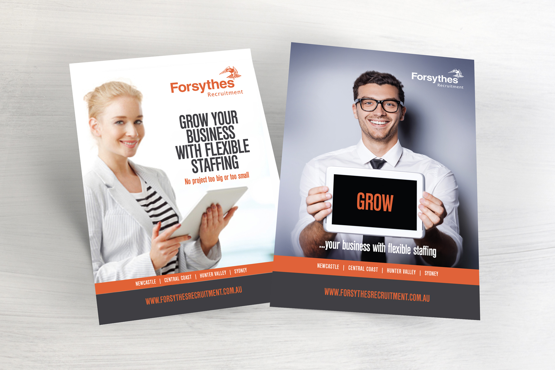 Forsythes Recruiting Full Page Advertisements
