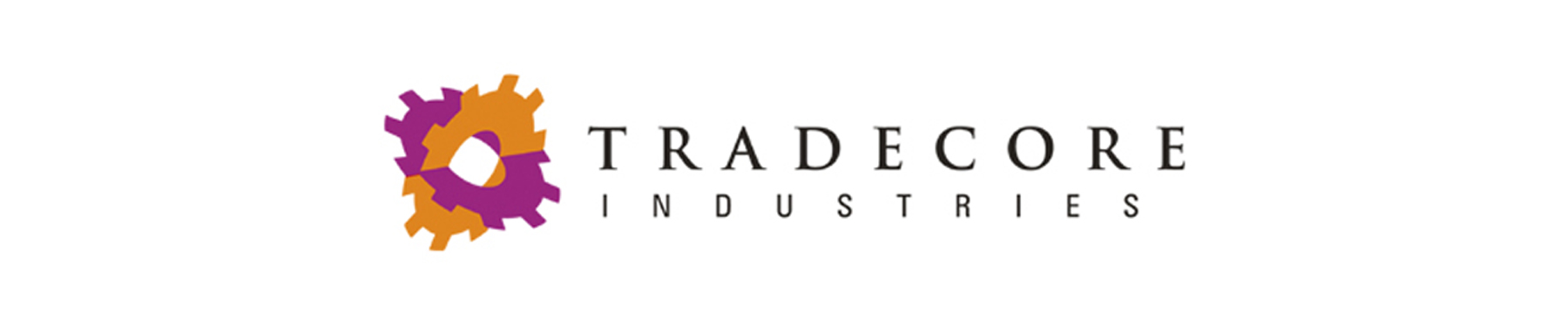 Tradecore banner on white background