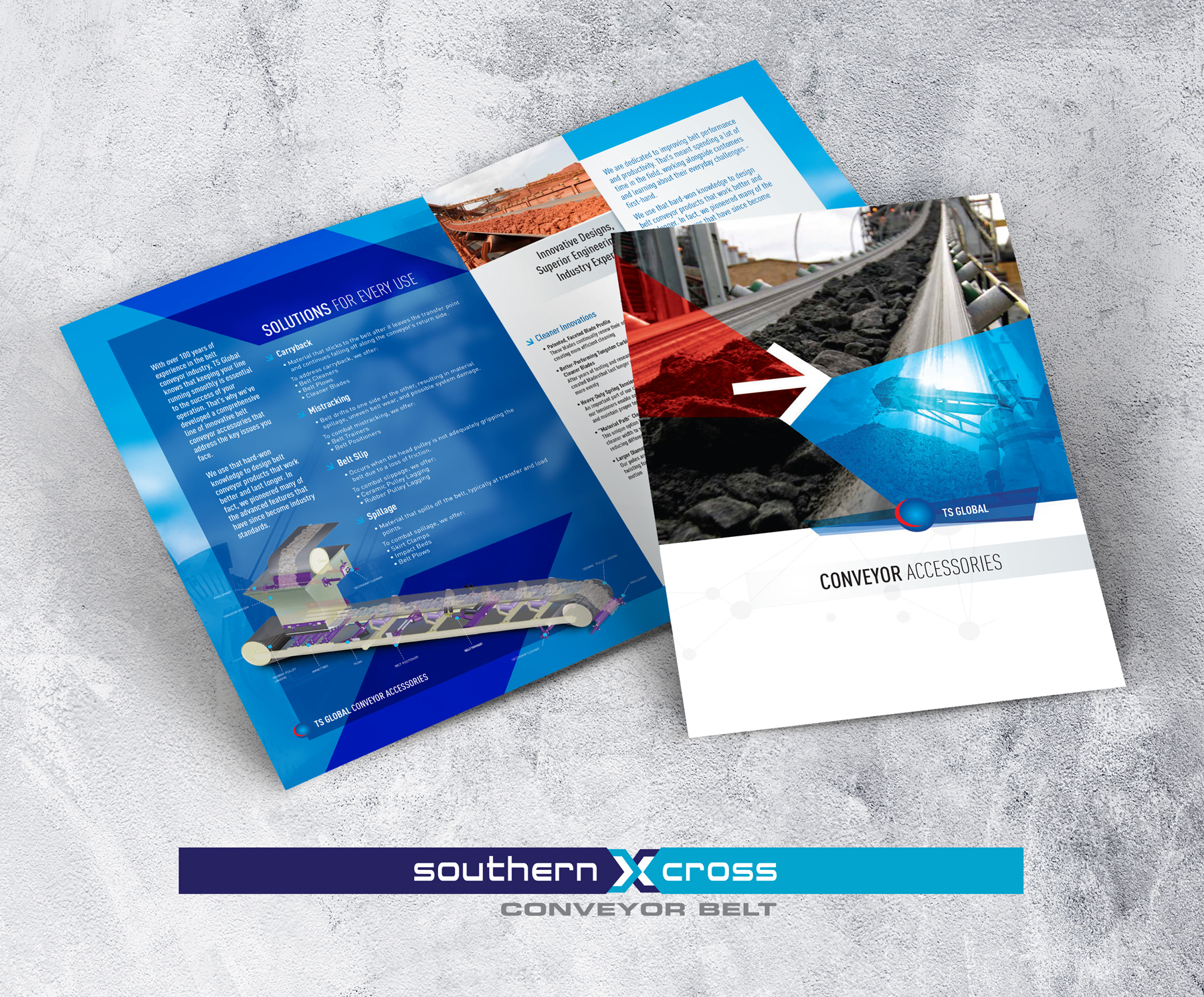 Convatec 12 page brochure display banner on grey background