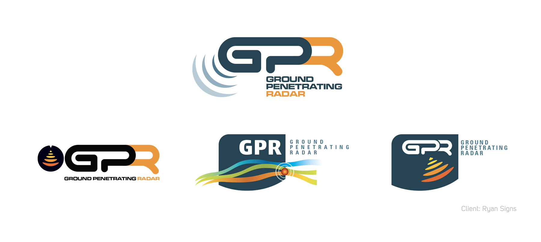 Ground Penetrating Radar Logo Banner