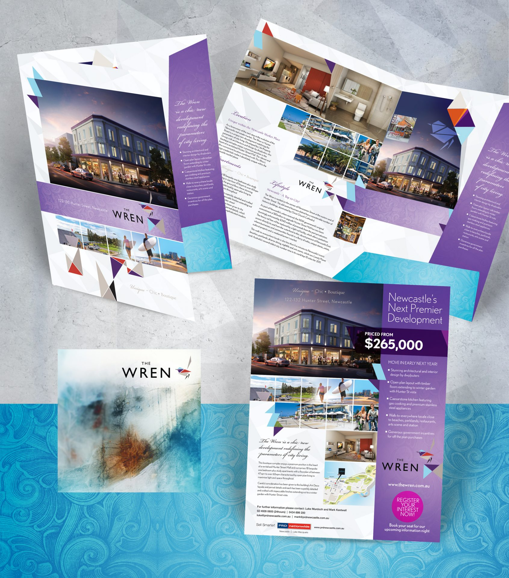 The Wren_Branding display banner on grey background