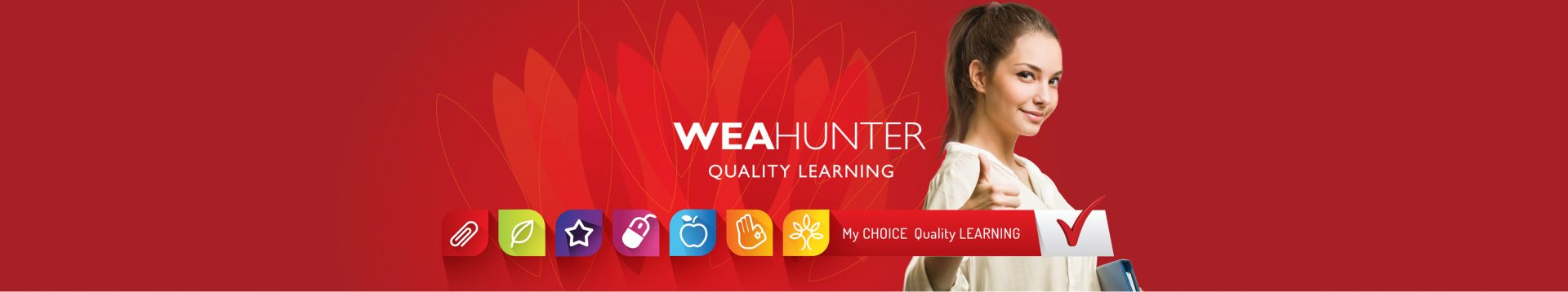 WEA Hunter banner for promotion