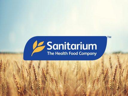Sanitarium Logo on wheat field