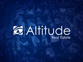 First National ALTITUDE Real Estate Brand on Blue Background