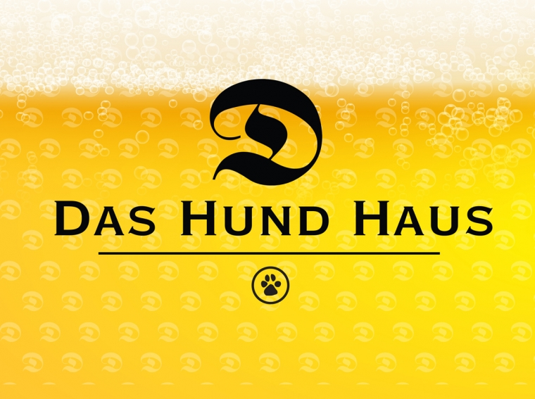 Das Hund Haus Brand on Yellow Background