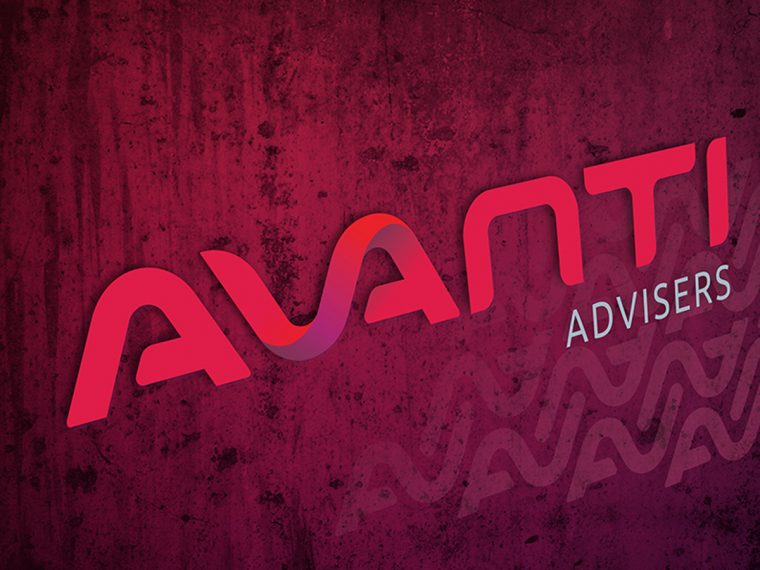 AVANTI Advisers Brand on Grunge Background
