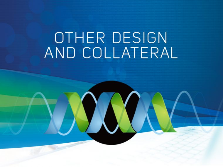 Design collateral display banner on green blue background